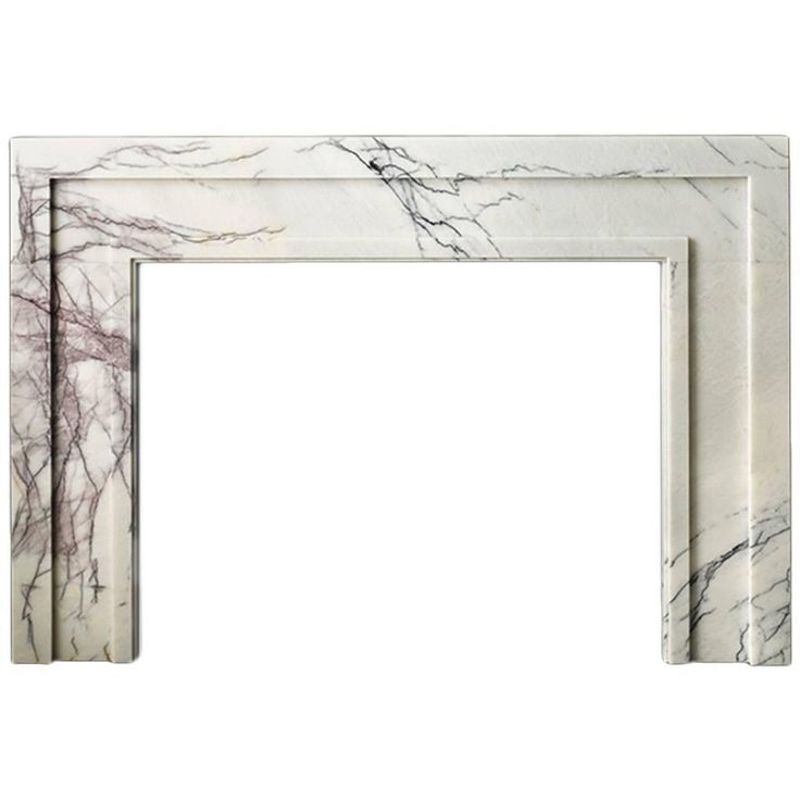 Modern Mantel in Lilac Marble | From a unique collection of antique and modern fireplaces and mantels at https://www.1stdibs.com/furniture/building-garden/fireplaces-mantels/