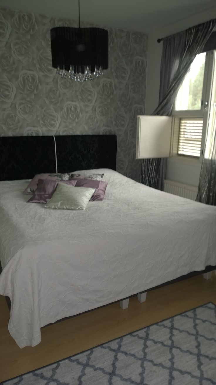 My new bedroom ♥ I made headboard old bed stuff and it cost only 10€ !