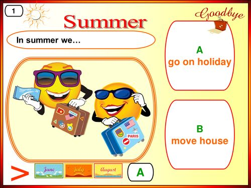 Summer Holidays, esl, summer, games. fun, vocabulary
