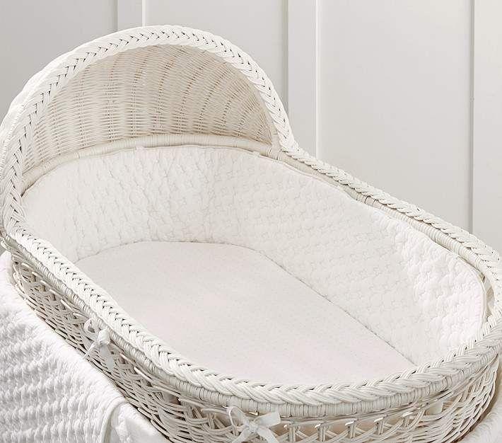 Organic Haven Bassinet Bedding Set, Bumper & Crib Skirt, Ivory in ...