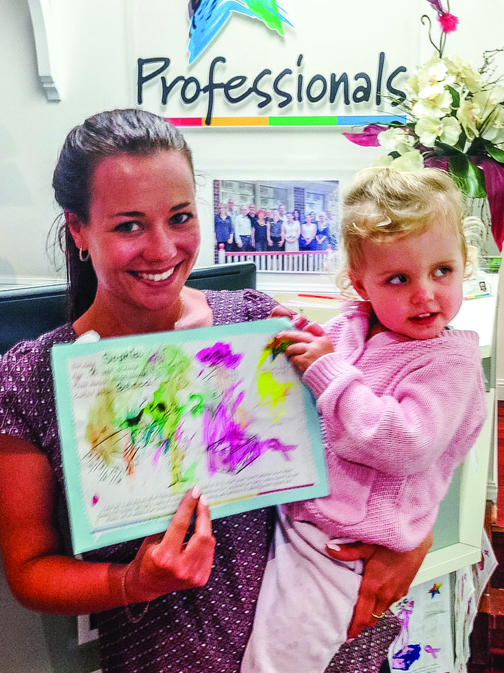 Well done Sophie - our 2nd runner up in the breast cancer colouring in competition 2015
