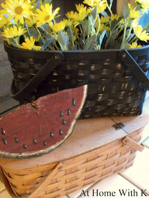 At Home With K: wood wedge watermelon | Crafty Ideas & DIY ...