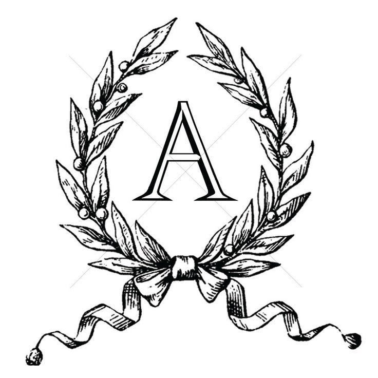 Matrimonio Monogram antico / / Instant Download di CompanyMonogram