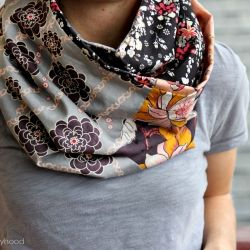 A fun, quick sew, reversible infinity cowl tutorial using your favorite 6 fat quarters!