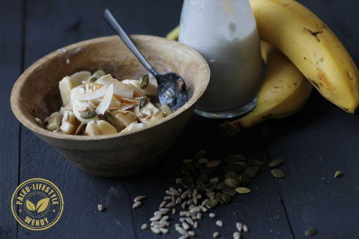 Banaan-kokos ontbijtje