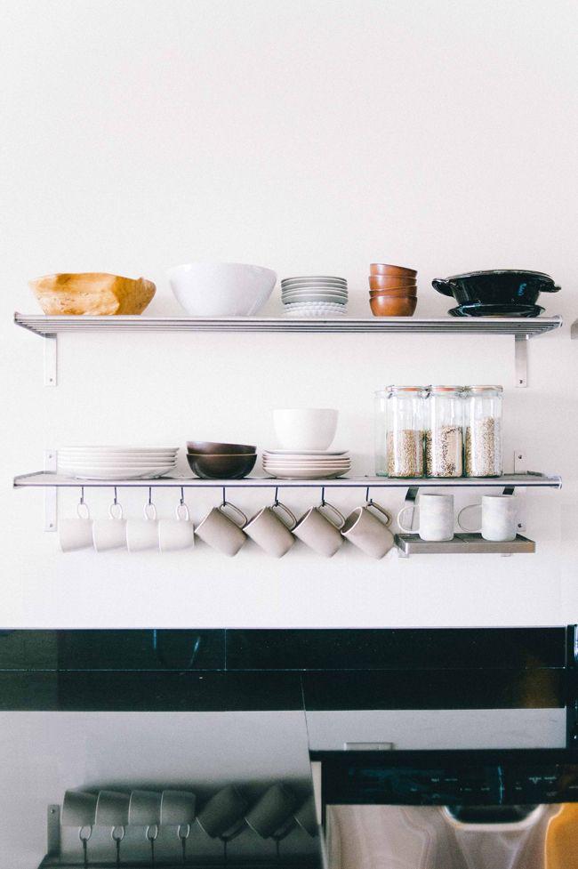 Kate Arends' Minneapolis Apartment Tour #theeverygirl #kitchenshelving