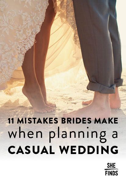 Mistakes brides make when planning a casual wedding. www.bestweddingshowcase.com
