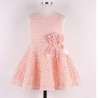 Wish | Size 0-7Y Baby Girl Toddler Lace Party Dresses Sleeveless Princess Dress Skirts