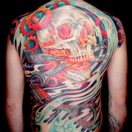 Cleen Rock One's first master canvas on Spike: Ink Master season 5 // Super Sick, should have won in my opinion...