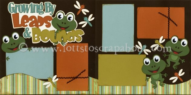 Growing By Leaps And Bounds (Boy) Scrapbook Page Kit