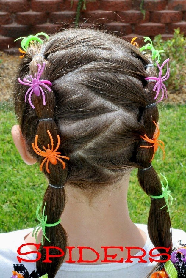 For a little added Halloween festivity, thread spider rings onto a little girl's pigtails. | 51 Cheap And Easy Last-Minute Halloween Costumes
