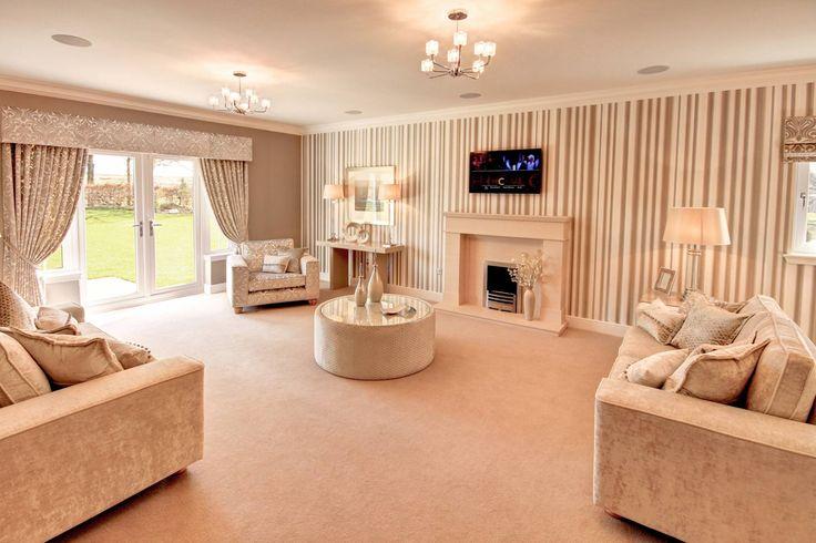 With these warm tones it makes the living room look cosy and inviting - The Malvern, Plot 7 Rowallan Castle Estate, Kilmaurs, Kilmarnock, East Ayrshire | McEwan Fraser Legal | Estate Agents Edinburgh