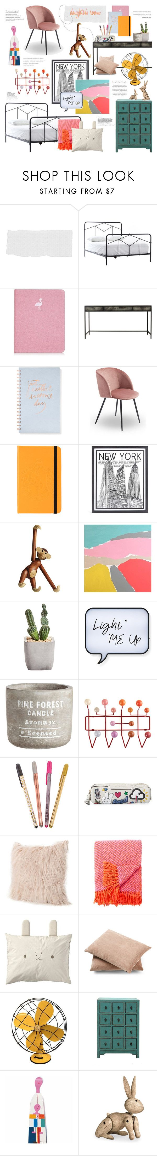 """""""Daughter's Room"""" by bklana ❤ liked on Polyvore featuring interior, interiors, interior design, home, home decor, interior decorating, Fringe, Stephenson, Kay Bojesen and Alan Fears"""