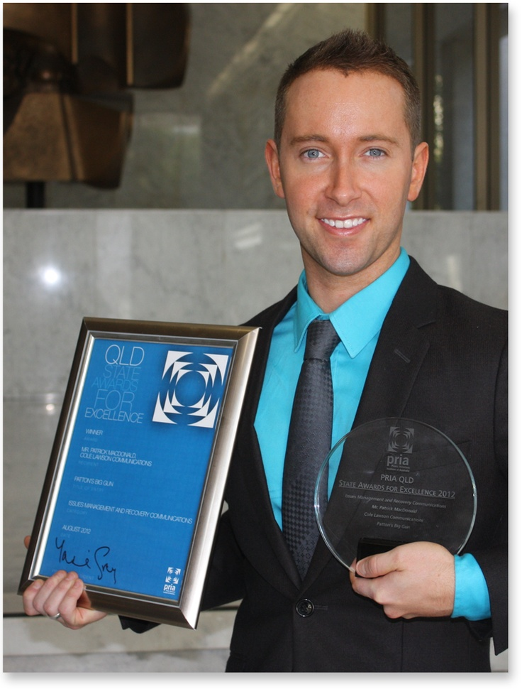 Patrick MacDonald, a senior account executive at Cole Lawson Communications, makes PRIA history with double award win. Read about it: http://influencing.com.au/p/42318