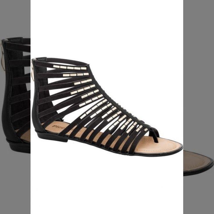 Amei e Vocês ???   Sandália rasteira gladiador Piccadilly preta de 8990 por... <3 GANHE MAIS DESCONTO ? CLIQUE AQUI!  http://imaginariodamulher.com.br/look/?go=2lbrhyq  #achadinhos #modafeminina#modafashion  #tendencia #modaonline #moda #instamoda #lookfashion #blogdemoda #imaginariodamulher