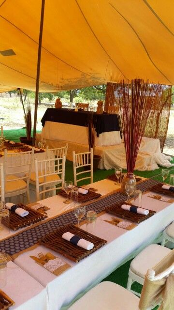 Modern Elegant Magadi Décor in Tatisiding, Botswana... African wedding