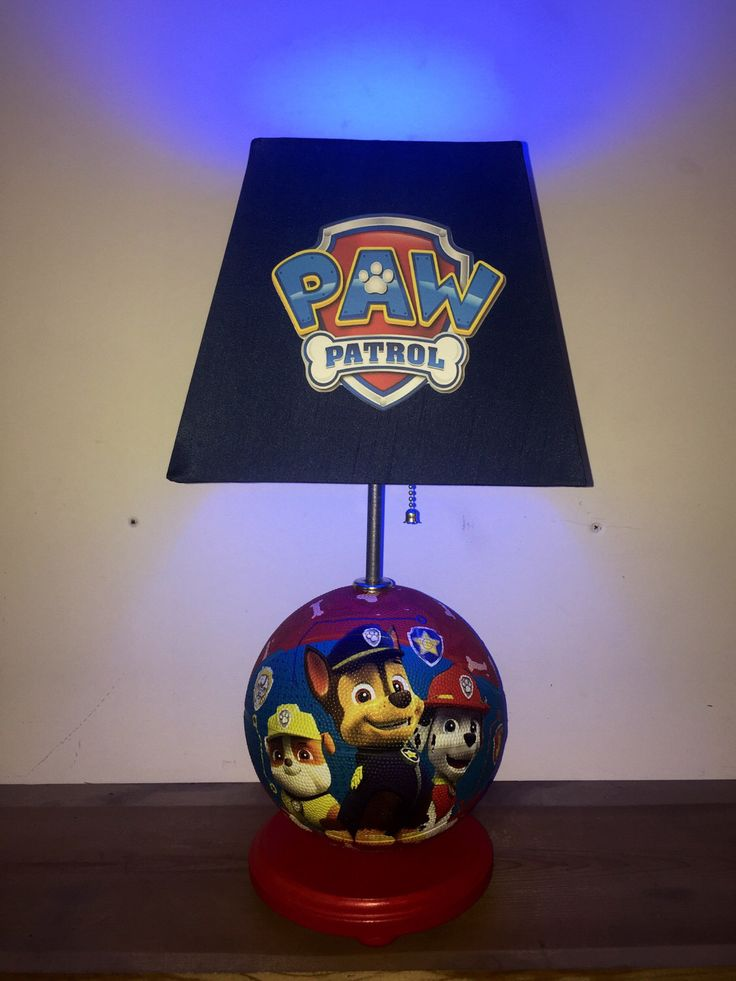 Paw Patrol, basketball lamp, kids room decor, Paw Patrol Chase, Rubble, home decor, home and living, lamps, table lamp, night light by CaliradoArt on Etsy https://www.etsy.com/listing/516374045/paw-patrol-basketball-lamp-kids-room