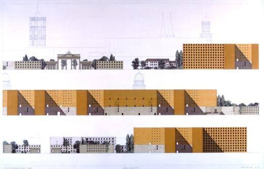 Giorgio Grassi · Un progetto per Berlino: «Grotewohlstrasse, Haus der Ministerien »