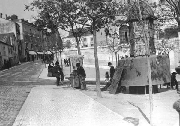 Rua das Janelas Verdes - Santos - Ano 1911