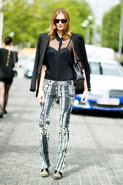 spotted in Copenhagen: John Paul Gaultier top, Balmain pants and shoes #streetstyle