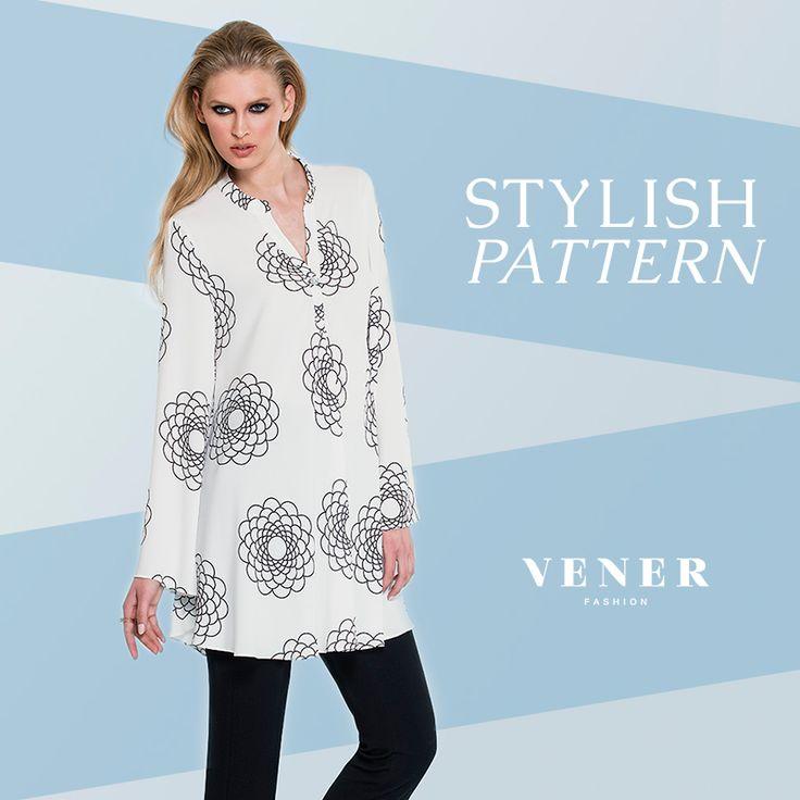 Δροσερό σύνολο, με ένα ξεχωριστό μοτίβο να δίνει ιδιαίτερο στυλ στις εμφανίσεις σας! http://www.vener.gr/gr/online-store #vener #fashion #stylish #pattern