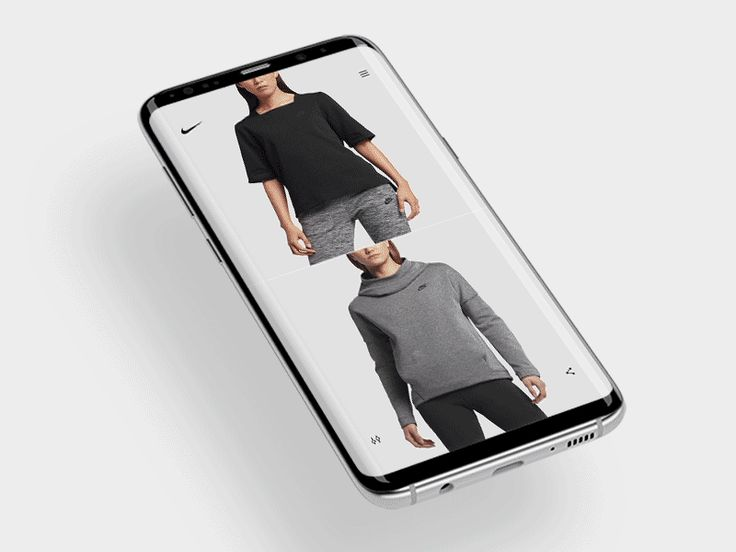 Nike product page mobile