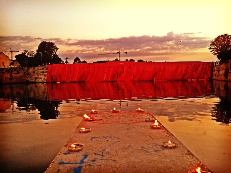 Ponte di Tiberio, wrapped up for the Festa de'Borg 2014  #festadeborg #rimini #italy