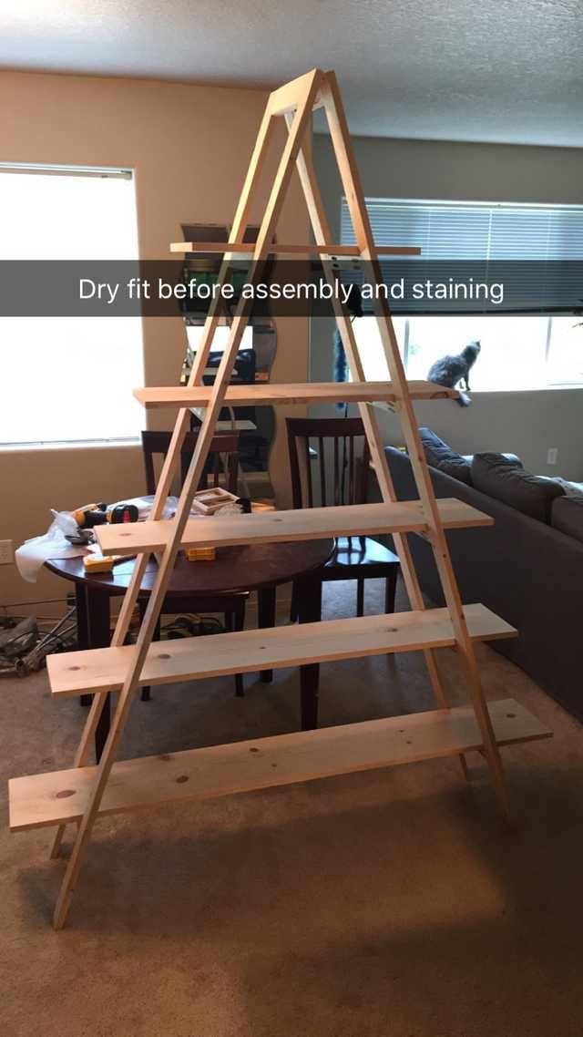 Diy A Frame Ladder Bookshelf Ladder Bookshelf A Frame Ladder A Frame Bookshelf