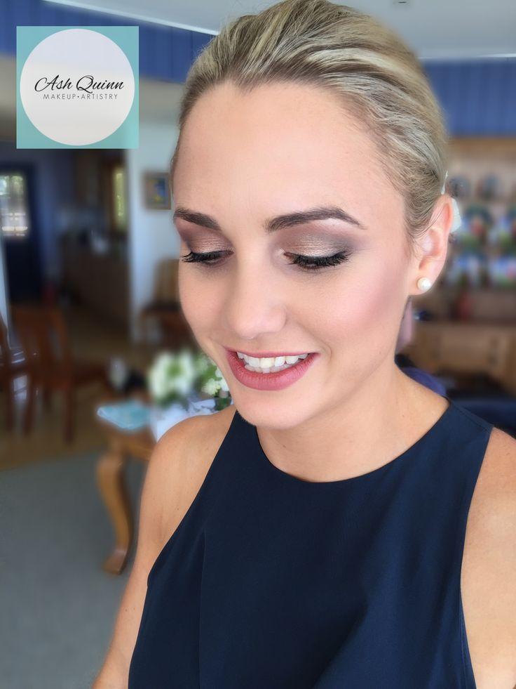 Makeup by Ash Quinn Makeup Artistry | Bridesmaid wears Zimmerman | www.ashquinnmakeup.com