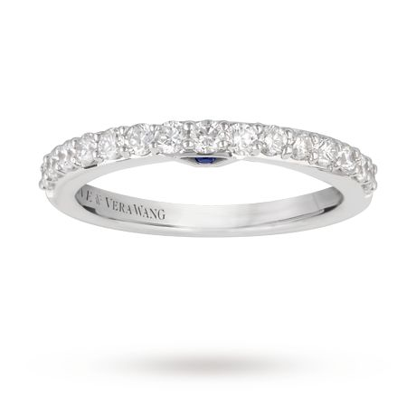Vera Wang Love 0.45 carat total weight brilliant cut diamond eternity ring in 18 carat white gold