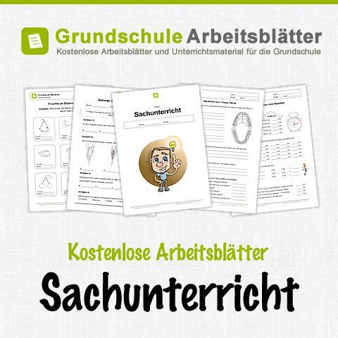 Kostenlose Arbeitsblätter und Unterrichtsmaterial für das Fach Sachunterricht in der Grundschule.
