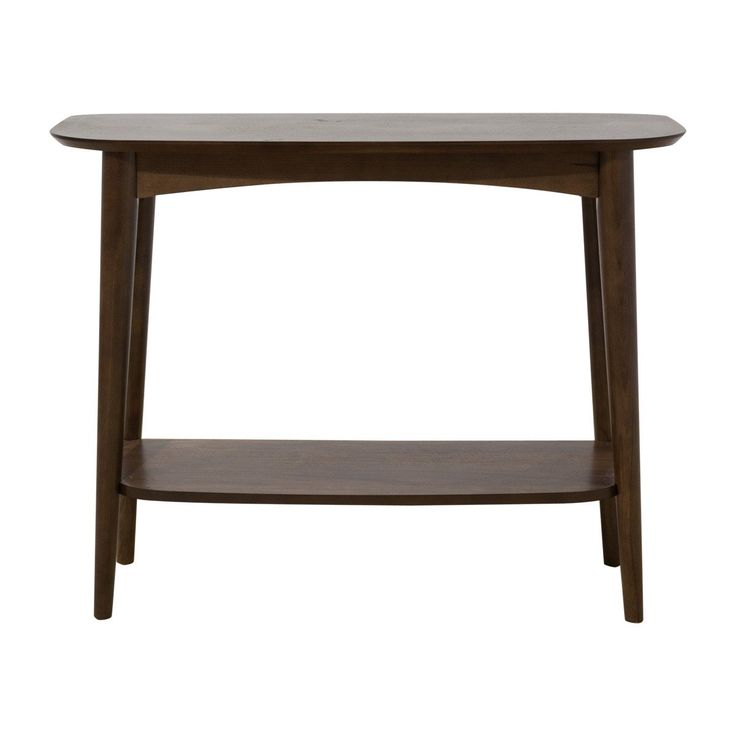 Browse Scandinavian Console Tables Online or Visit Our Showrooms To Get Inspired With The Latest Console Tables From Life Interiors - Stockholm Console Table (Shelf, Walnut)