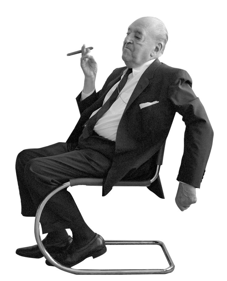 Cutout people: famous architects - Ludwig-Mies-van-der-Rohe