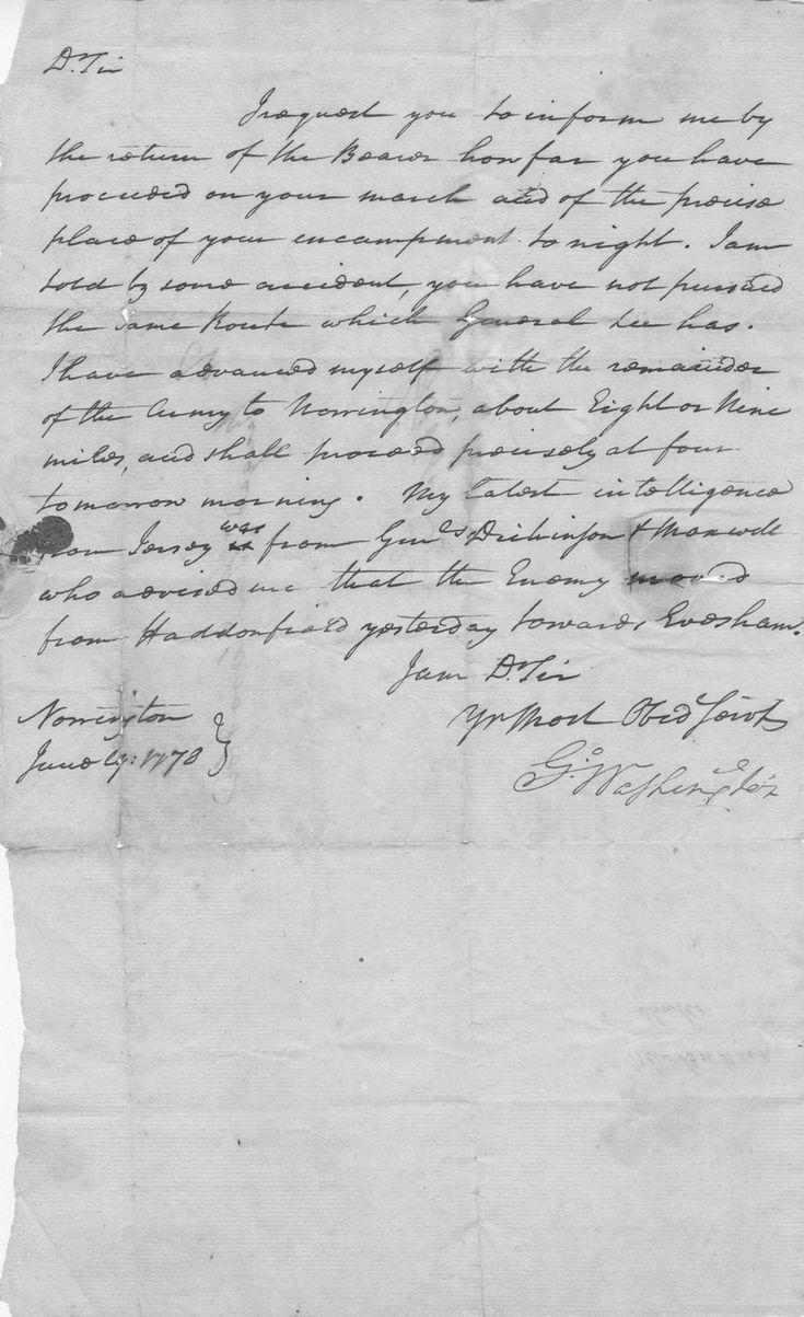 George Washington Important Revolutionary Wardate Letter Signed As Manderinchief,