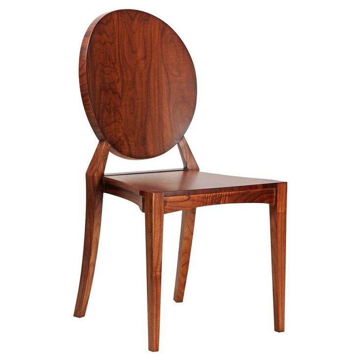 Astor Hollywood Regency Polished Mahogany Side Chair | Kathy Kuo Home