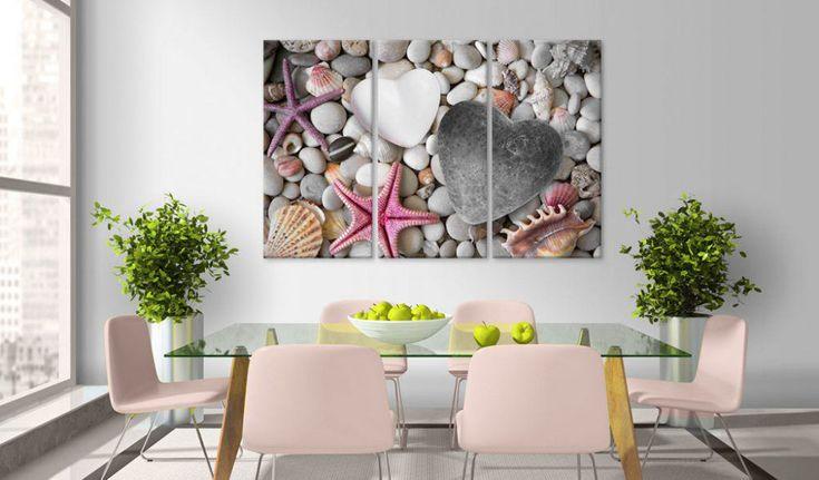 Obraz na plátně - Pebbles of love #canvas #prints #obraz #decor #inspirace #home #barvy #pictureframes #laska #beach