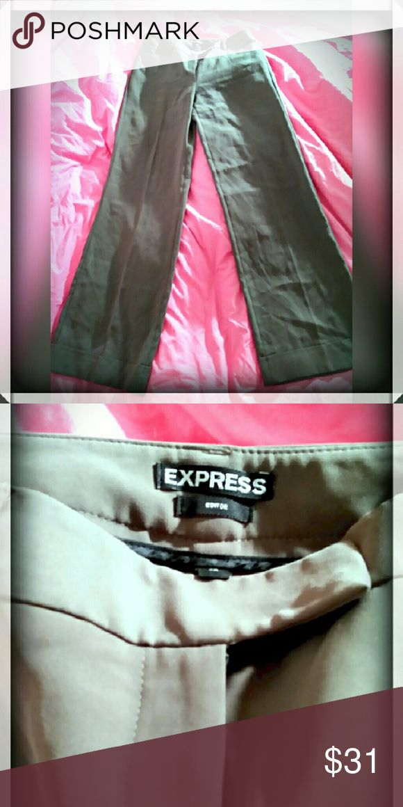 Express mocha colored editor style pants Mocha editor style pants made by express. Size 2 regular. Inseam is 32 1/2' inches. Never worn Express Pants Trousers