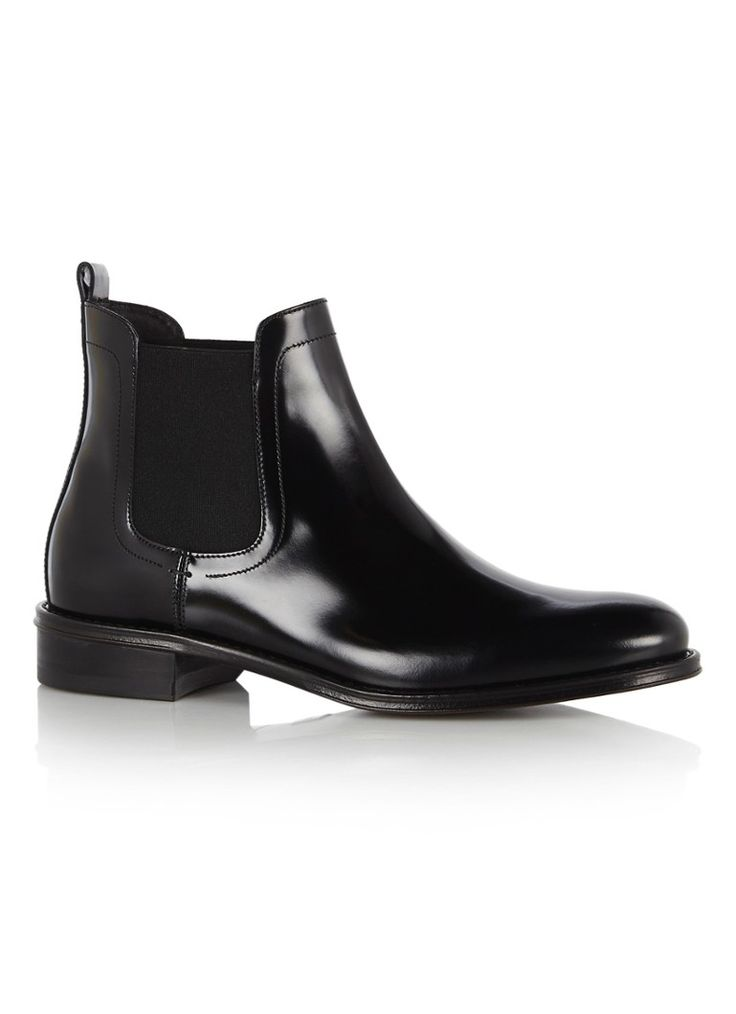 Hugo Boss black leather boots.