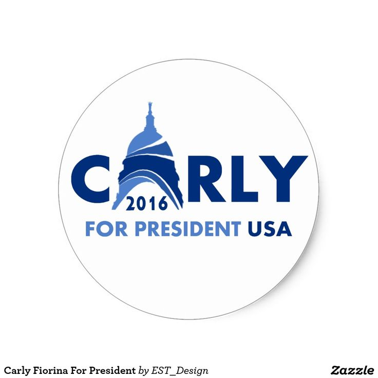 Carly Fiorina For President Classic Round Sticker