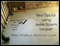 Annie Sloan Lacquer Application Tips By The Purple Painted Lady