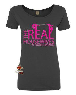 Real Housewives Scoop Neck Tee – Linemen Rock - Lineman Shirts