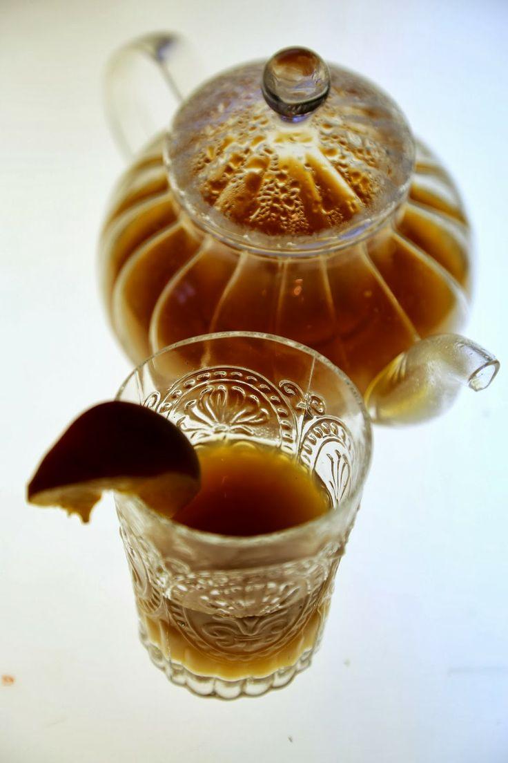 The English Can Cook: Peach Tea recipe http://www.msmarmitelover.com/2014/03/peach-tea-recipe.html