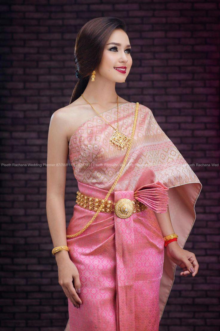 Excelente Trajes De Boda De Camboya Embellecimiento - Colección de ...