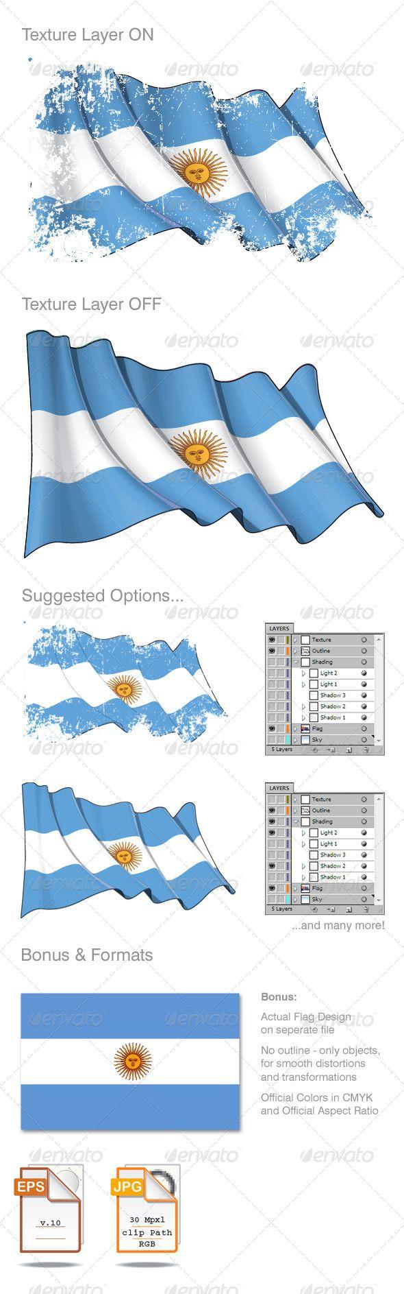 Argentina Flag Grunge