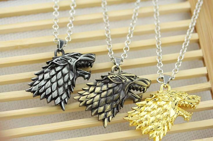 Game of ⊱ Thrones House Stark Movie necklace Winter Is Coming 3D wolf ✅ head pendantGame of Thrones House Stark Movie necklace Winter Is Coming 3D wolf head pendant