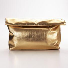 Roll Clutch Bag - Gold
