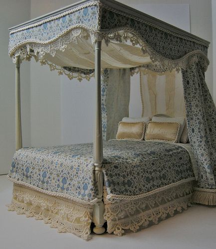 1:12 Dressed Canopy Bed | Flickr - Photo Sharing! (by Ken Haseltine)