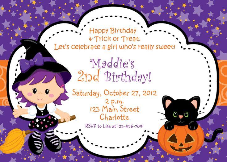 25 best ideas about Halloween birthday invitations – Invites Birthday Party