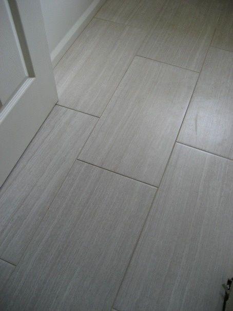 Grey rectangle tile for the bathroom floor