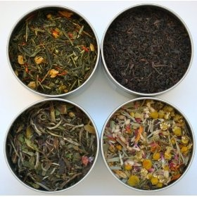 Heavenly Tea Leaves Organic Tea Sampler - 4 Bestselling Cans - Approximately 25 Servings of Tea Per Can